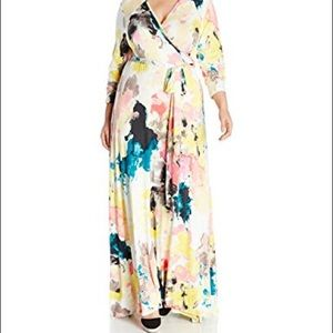 Melissa McCarthy Painted Cloud Maxi Dress